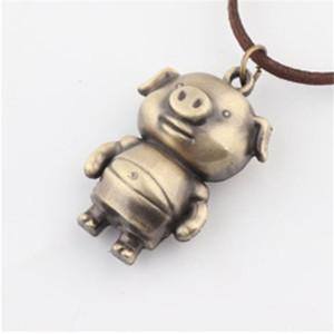 12 중국어 조디악 동물 귀여운 돼지 목걸이 펜던트 건강 조디악 쥬얼리 여성 남성 펜던트 체인에 대한