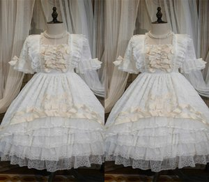 2020 Royal White Flower Girl Dress Square Neck Appliqued Tiered Lace Bow Elegant Pageant Gown Ribbon Floor-length Birthday Gown Custom Made