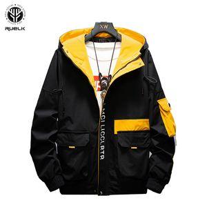Tooling O revestimento dos homens RUELK Primavera e Outono 2019 Jacket New selvagem de homens ocasional considerável Tide marca Clothes M-5XL