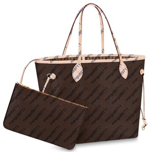 Handtaschen Handtasche klassische heiße Art der Verkaufs-PU-Art und Weise Frauen Tragetaschen Schulter-Einkaufstasche MM Größe Frauen Handtasche 2pcs Kupplung / set