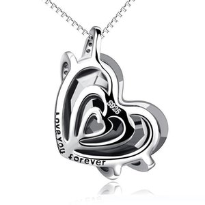 Fashionaccessories European and American necklaces pendants heart-shaped ocean heart necklace crystal necklaces