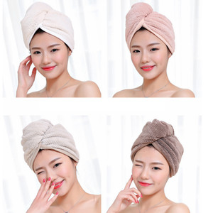 Magic Microfiber Hair Fast Drying Dryer Towel Bath Wrap Hat Quick Shower Cap Turban Towel Dry 4styles RRA2239