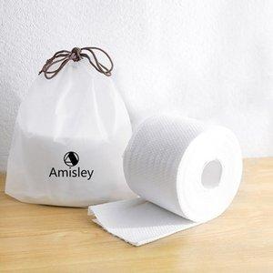 Amisley asciugamano di cotone, ultra molle spesso supplementare monouso viso tessuti per la pelle sensibile, baby salviette, Makeup Remover