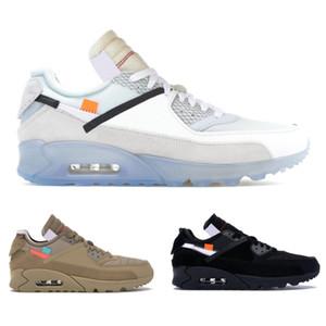 Novos 90 Desert Ore Sapatos Masculinos Black White Running Shoes Top Homens Mulheres 90 Sneakers Esportes Tamanho 40-45