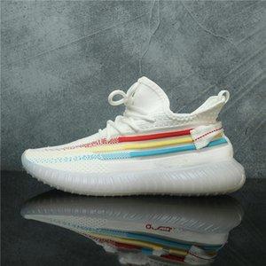 2020 Nuevo hombre de All Star de los zapatos corrientes 3M estático V3 Kanye West V6 zapato semi Amarillo 2019 Blanco Negro Deportes Seankers de diseño para hombres Des Chaussures
