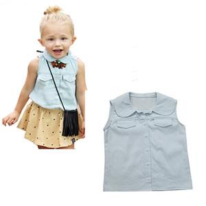 2017 뉴 키즈 아기 여자 여름 패션 면화 소매가는 의류 탑
