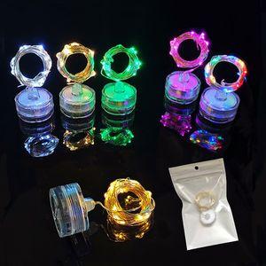 Водостойкие Фонари СВЕТОДИОДНЫЕ Кнопки Батарейного Отсека Дайвинг Лампы Torx Медный Провод Струны Лампы Горячий Продавать 2 6fl L1