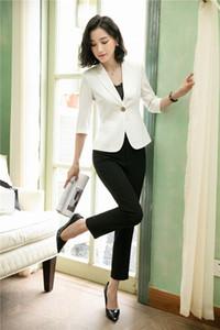 Новый 2019 мода блейзер брюки костюм женщины деловые костюмы с брюки и куртка набор дамы Pantsuits Ol стили
