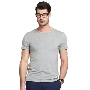 Bamboo Fiber Short Sleeves T Shirt Men's 2020 Summer New Round Neck Plus Size Tees Harajuku Fashion Mens Workout Shirts L to 4XL