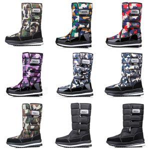 bottes de créateurs de mode pour les femmes hommes Camo demi-botte classique bottes d'hiver de neige Bottillons imperméables à l'eau plate-forme d'expédition 36-46 Goutte