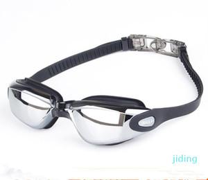 Fashion Men Swim Goggles Anti-fog Swim Glasses Adult HD Women Swimming Goggles Professional Electroplate Waterproof Swim Glasses Clear Lens