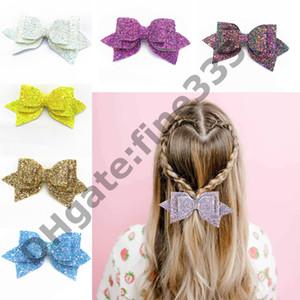 Barrettes bebés niñas brillo grande brillante lentejuelas arco diademas niñas pinzas de pelo para niños Barrettes niños accesorios para el cabello