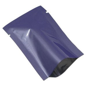 300pcs lucidi Fiori viola foglio di alluminio Heat Seal Sacchetti secchi casalinghi imballaggio Mylar bagagli Open Top Vacuum Bag