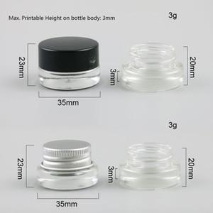 360 x 3g vaso pequeño Crema Maquillaje Tarro lindo Olla con plástico de aluminio White Cap Pad 1/10 oz Vacío envase cosmético Embalaje