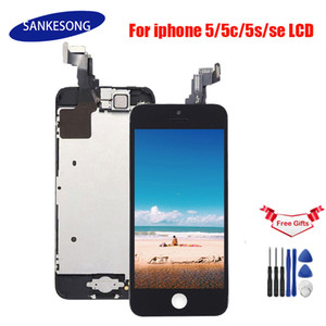 No Dead Pixel lcd Screen For iPhone 5G 5C 5S SE Full Complete with Digitizer Bezel Frame+Home Button+Front Camera Full Assembly