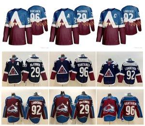НХЛ Колорадо Эвеланш Джерси 29 Натан Маккиннон 8 Кейл Макар Ландескуг Микко Rantanen 2020 Стадион Серия прошитой Хоккей Джерси