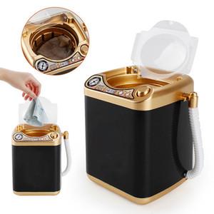 Kirpik yıkayıcı Mini Makyaj Fırça Çamaşır Makinesi Simülasyon Oyuncak Vizon Kirpik Elektrikli Toz Puff Temizleyici Yıkama Aracı