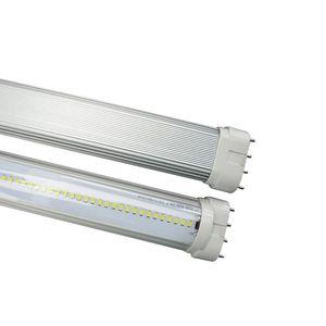 reemplazo de CFL 40W 6000K Cubierta transparente En construyó controlador 85-265V 15W 415mm 4 pines PLL LED 2G11 Tubos