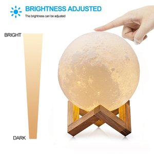 Luna Moon Lamp Night Light 3D Printed Lunar Moonlight Lamp LED Dimmable Touch Bedside Table Desk Lamp best decor for home