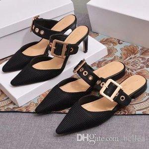 Chaussures High Heels Gold Square Boucle Pompes Toe femmes Chaussons Pointu Bloc talon Chaussures femme Livraison gratuite