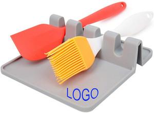 Logo personalizzato Silicone Spoon Rest, utensile da cucina Riposo, supporto Mestolo Cucchiaio per la cottura, cucina, utensili da cucina Set