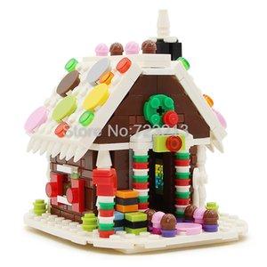 Строительные блоки, Дом создатель, Ginger House, домашний декор, мини-улица модель, магазин, магазин, развивающие игрушки для детей