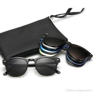 Ímã dos óculos de sol Clip sobre óculos Magnetic Sunglasses lente polarizada Marca Designer miopia óculos de sol óculos de armação