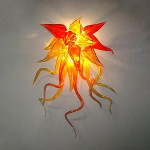 100% soufflé bouche LED verre mur Ampoules mur Lampes Art en gros de fleurs Livraison gratuite Wall Sconce