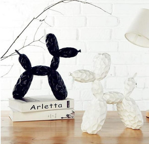 Удар Джефф Кунс Блестящий Шар Собака Статуя Животных Смола Ремесла Рабочий стол Гостиной Винный Шкаф Настенные Украшения