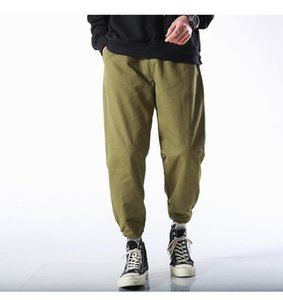 Pocket Mens Clothing Fashion Designer Male Cargo Pants Fitness Loose Solid Color Trousers Hip Pop Multi