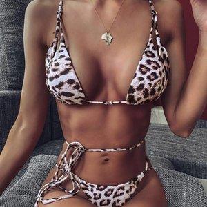 ZTVitality Leopard Push Up Bikini 2020 nuovo arrivo spallacci imbottiti String Costume da bagno femminile sexy dello Swimwear donne Biquini brasiliano