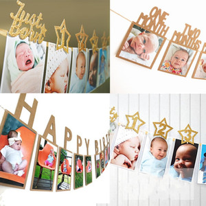Baby First Year Photo Folder Wedding Pulling Flag Letters Niño Happy Birthday Banners Fit Party Decoration 7 3yq E1