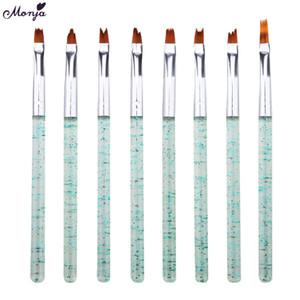 Comercio al por mayor 8 Unids / set Nail Art Acrílico Francés Pincel de Gel de Color Gradiente Gradual Fade Pintura Dibujo Liner Pen herramientas de manicura