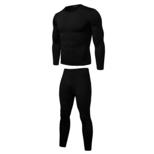 2019 nuevos hombres de invierno conjuntos de ropa interior térmica caliente elástico Fleece Johns largo de los trajes de la ropa interior de los hombres transpirable Polartec Thermo