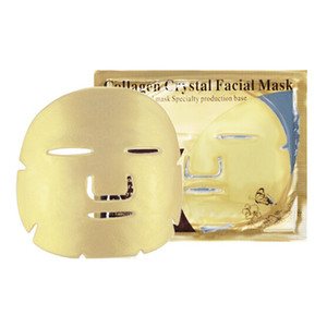 Gold Bio Collagen Facial Mask Face Mask Crystal Gold Powder Collagen Facial Mask Sheets Moisturizing Beauty Skin Care Products DHL free