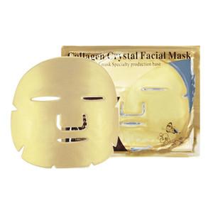Ouro Bio Colágeno Máscara Facial Máscara Facial de Cristal De Ouro Em Pó Colágeno Máscara Facial Folhas Hidratante Beleza Produtos de Cuidados Da Pele DHL livre