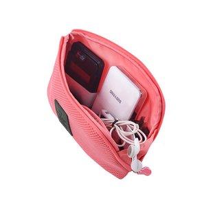 Cable de carga portátil Bolsas de almacenamiento Auricular Organizador Viaje exterior Bolsa de almacenamiento digital a prueba de golpes 12.5 * 15 * 3 cm Ligero BH01015 TQQ