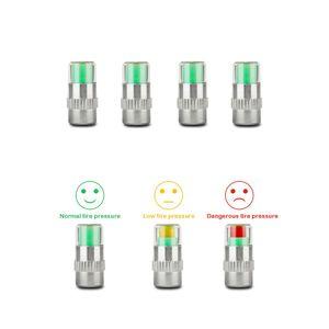 4 unids/lote 2,0/2,2/2,4 Bar 30/32/36 PSI Monitor de presión de neumáticos medidor de presión tapa Sensor indicador alerta monitoreo Kit de herramientas