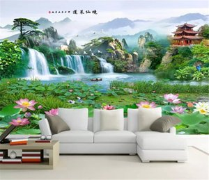Custom Any Size 3d Wallpaper Sala de estar Penglai Wonderland 3D pintura de paisaje Fondo de TV Decoración de la pared Mural Wallpaper