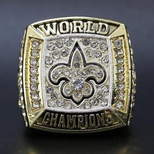 Al por mayor de la Super Bowl 2009 de la Nueva Santos anillo de campeón de acero de alta calidad de la manera de Cine