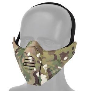 قناع القتال التكتيكية نصف الرياضة السريعة الصيد خوذة واقية ل gear cs paintball الادسنس الوجه والعتاد bqseg