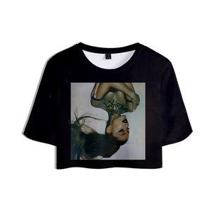 new 2019 drop shopping 3D Ariana Grande Tops Crops Girl t-shirt Short T shirt Women Sexy Clothes Hot Sale Casual Plus Size