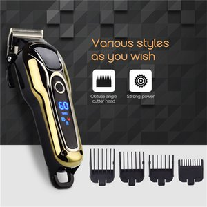 100-240V recortador recargable cortadora de cabello profesional cortador cortador de corte de corte de corte de pelo eléctrico para hombres 34