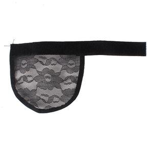 Fare 5Pcs Retina per capelli Coda di cavallo Hairnet cinghia regolabile sulla parte posteriore di tessitura Cap Glueless Cap parrucca buona qualità libera il trasporto