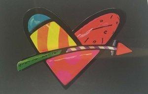 """Açık Tuval Wall Art Canvas Resimler 200.528 Boyama Romero Britto """"Love"""" 02 Ev Dekorasyonu Handpainted Yağı"""