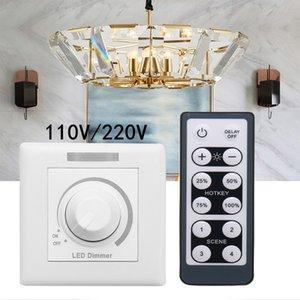 Светодиодный диммер 110V / 220V Настенный диммер с 12 клавишами ИК-пульт дистанционного управления для ламп с регулируемой яркостью лампы