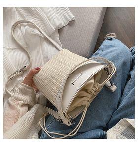 2020 Designer Handbags Messenger Woven Bag New Fashion Portable Luxury Bucket Bag Tide Designer Shoulder Straw Bag