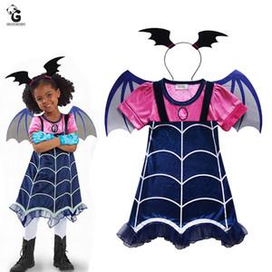 Vampirina Costumes Crianças Vampiro Cosplay Meninas Trajes Vestidos Carnaval festa de Halloween para crianças Fancy Dress For Girls HNLY22