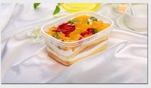 Togo scatole per alimenti, era trasparente monouso, rettangolare, 709ml, lattina torta materiale .Main è materiale PP.PP è commestibile e molto sano.