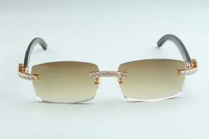 Очки роскошные бесплатные горячие продажи рога смешивание натуральный рог 3524012-B10 алмазные солнцезащитные очки бесконечные 2021 Толщина 3,0 объектива WDDVF